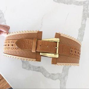 Leatherock Genuine Leather Embroidered Waist Belt